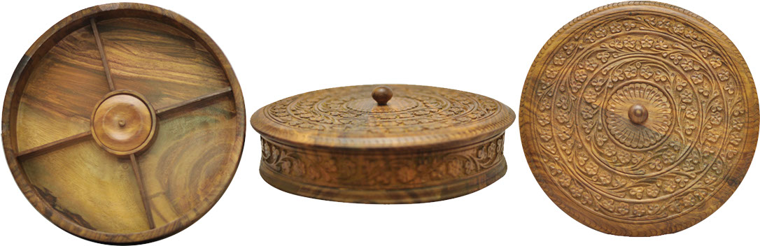 Rashid Handicrafts Carving Woodwork Lacquer Tables Wood Decoration